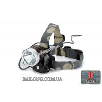Фонарь головной светодиодный аккум. Bailong BL-6810-T6 Police 1000W